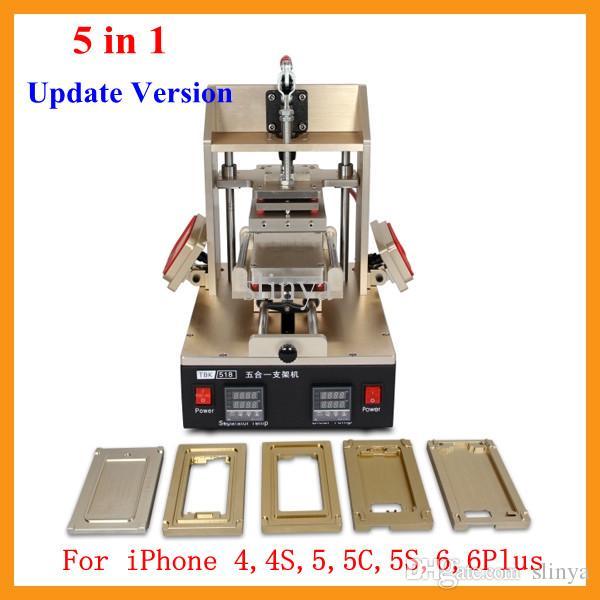Aggiornato Versione 5 in 1 Multifunzione LCD Refurbish Machine Splitter per castone + Separatore LCD per vuoto + Rimozione colla + Frame Laminator + Preriscaldatore