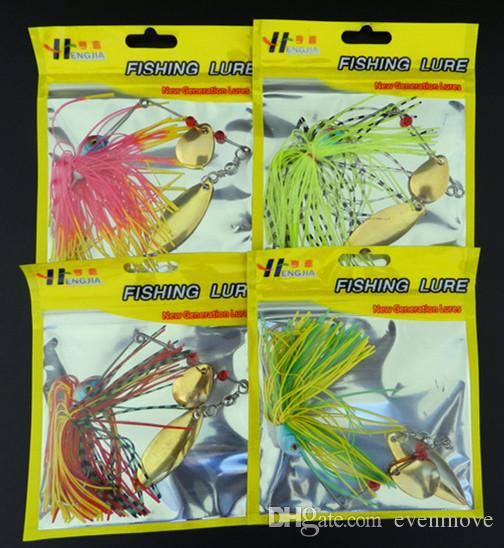 New Arrival Buzzbait Fishing Lure Rubber Jig Spinner Bait Artificial Lures Baits