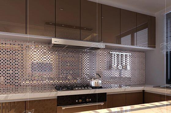 Cam metal mozaik fayans TV arka plan desen fayans döşeme duvar mozaik monte örgü mozaik fayans