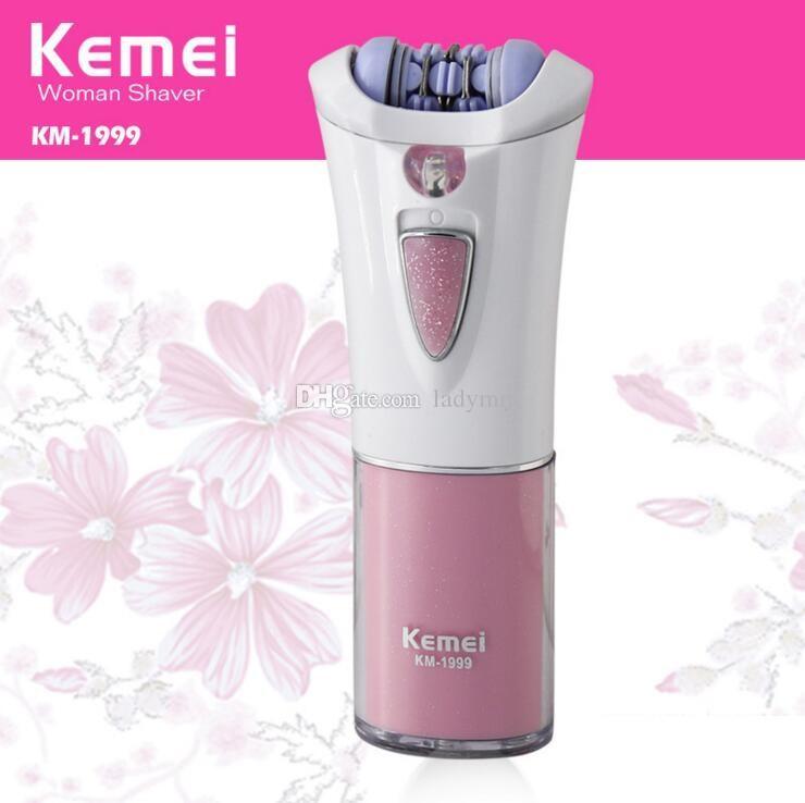 DHL Free shipping Kemei KM-1999 Portable Lady Shaver personal Electric Shaver Shaving Mini Epilator Hair Removal Razor Trimmer