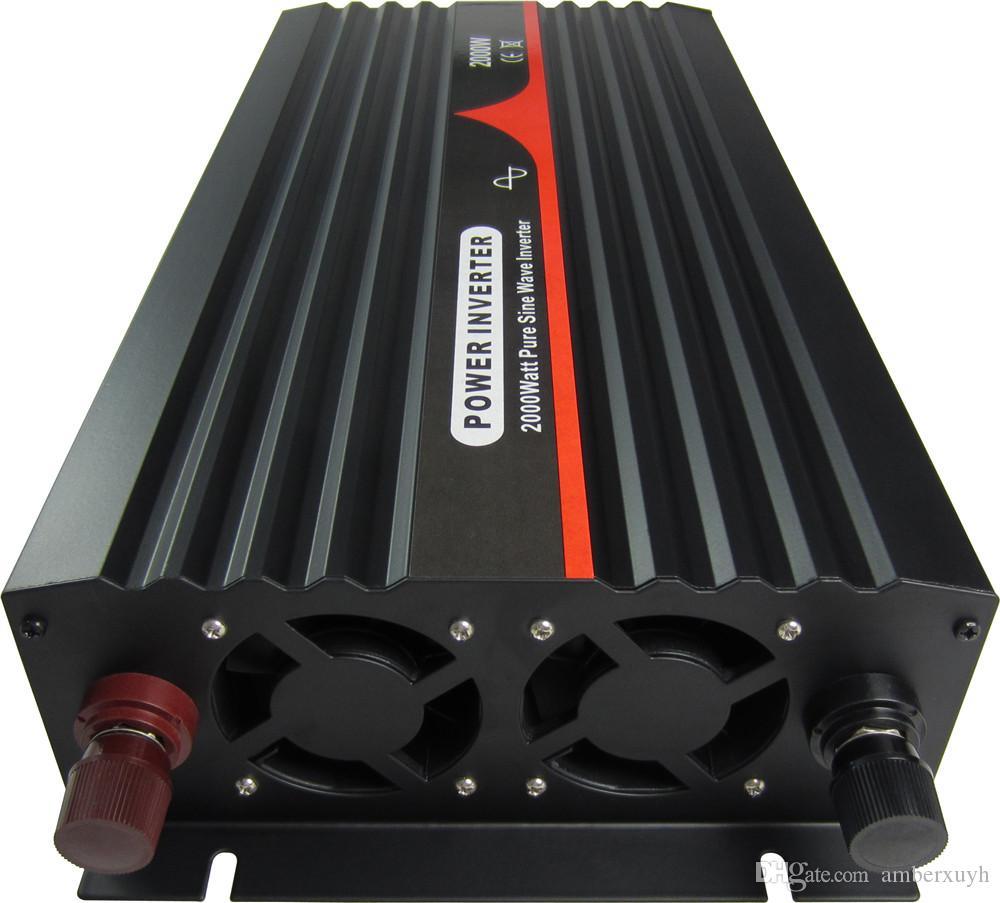 Frete grátis 12V a 240V 50 HZ Australian soquete de onda senoidal pura Inversor 2000W