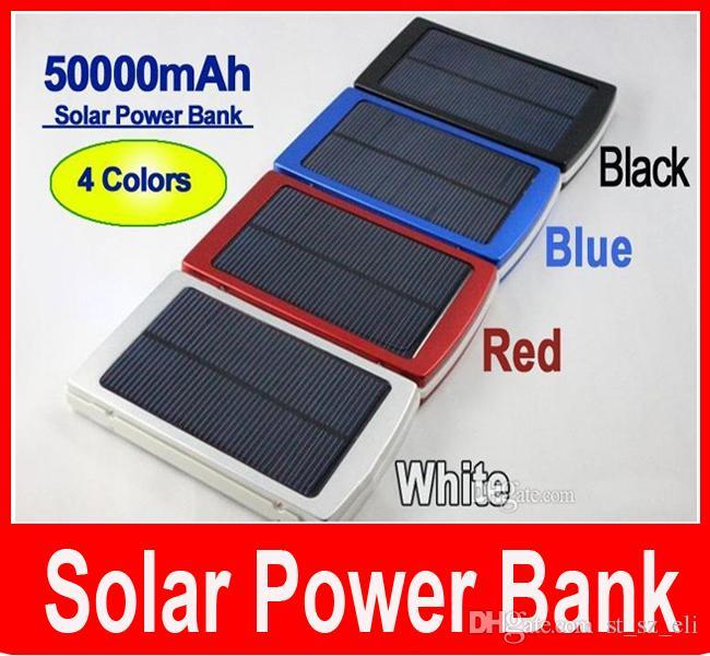 50000 мАч Солнечное зарядное устройство и аккумулятор 50000mAh панели солнечных батарей двойной зарядки портов портативный банк питания для всех сотовый телефон таблица PC MP3