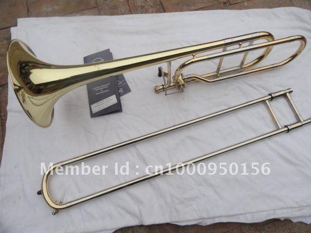 Bach 42BO Alter Sandhi Tenorposaune Import 95-Legierung Kupfer-Oberfläche Gold-B-Posaune Musikinstrumente