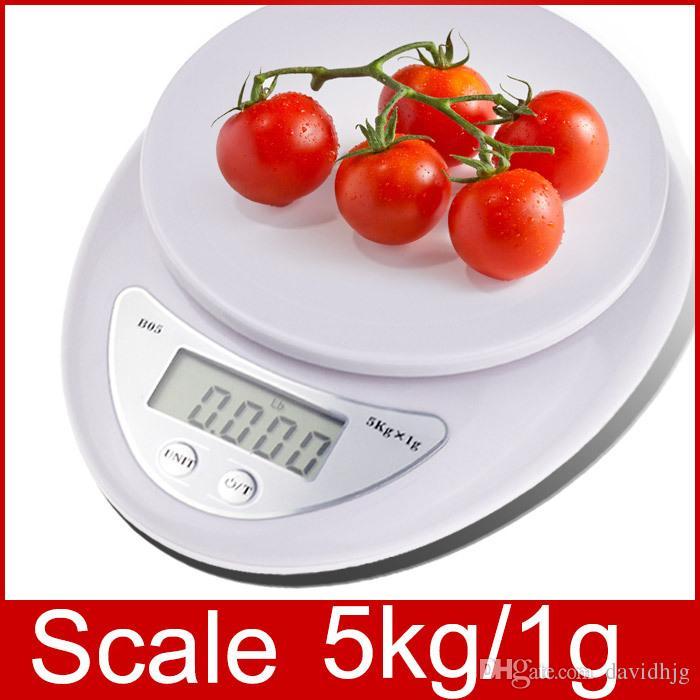 2018 Nuevo 5000g / 1g 5 kg Escala de Cocina Doméstica Mini Medición Digital de Alta Precisión Balanzas Peso Electrónico LED