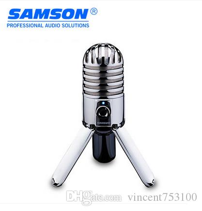Högkvalitativ Samson Meteor Mic USB Kondensor Mikrofon Studio Mikrofon Kardioid för dator Notebook Nätverk Gratis frakt