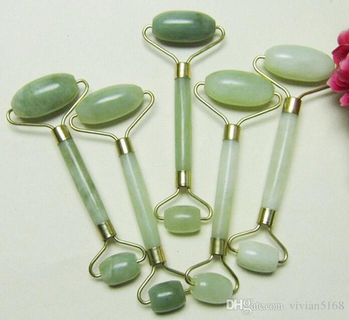 Portable Pratique Jade Massage Du Visage Rouleau Anti Rides Sain Visage Corps Tête Pied Nature Beauté Outil Jade bâton de massage cadeau