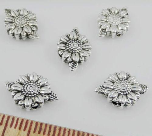 Free Ship 200 Pcs Tibetan Silver Flower Spacer Beads For Jewelry Making 13x9mm
