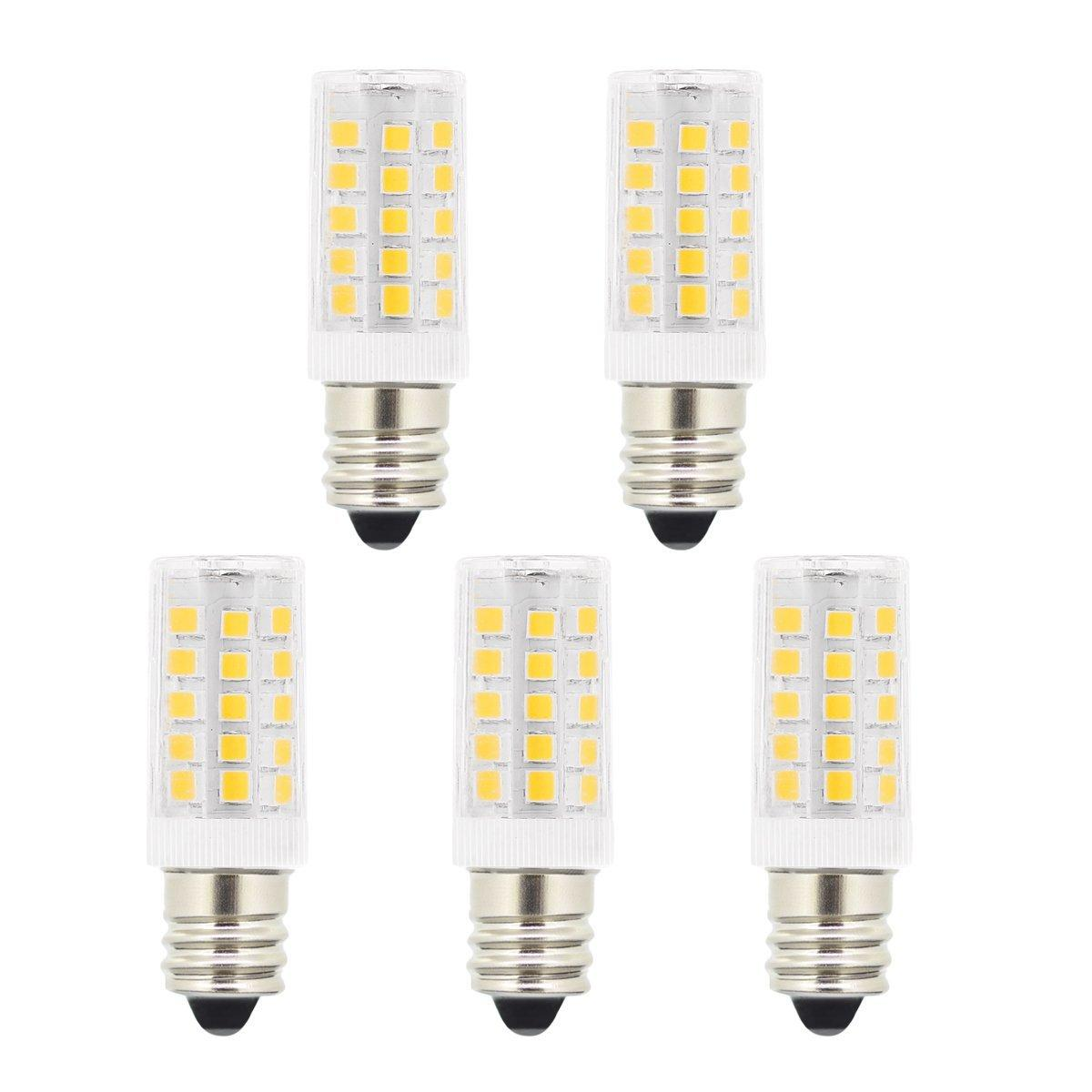 5w T3 E12 Candelabra Base Led Bulbs 40 Watt Incandescent Bulb Replacement 120 Volts 400lm Natural Daylight White 6000k Led Light Bulbs For U Led Car