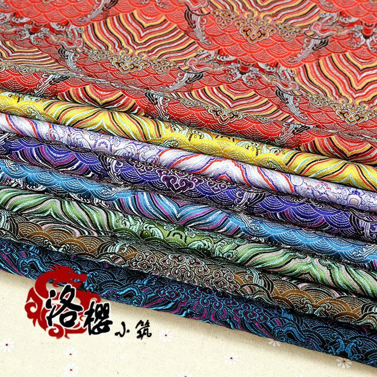 Chinese oude zijde satijn brokaat cos baby kleding kostuum jurk kimono kussen kussen golf damast stof