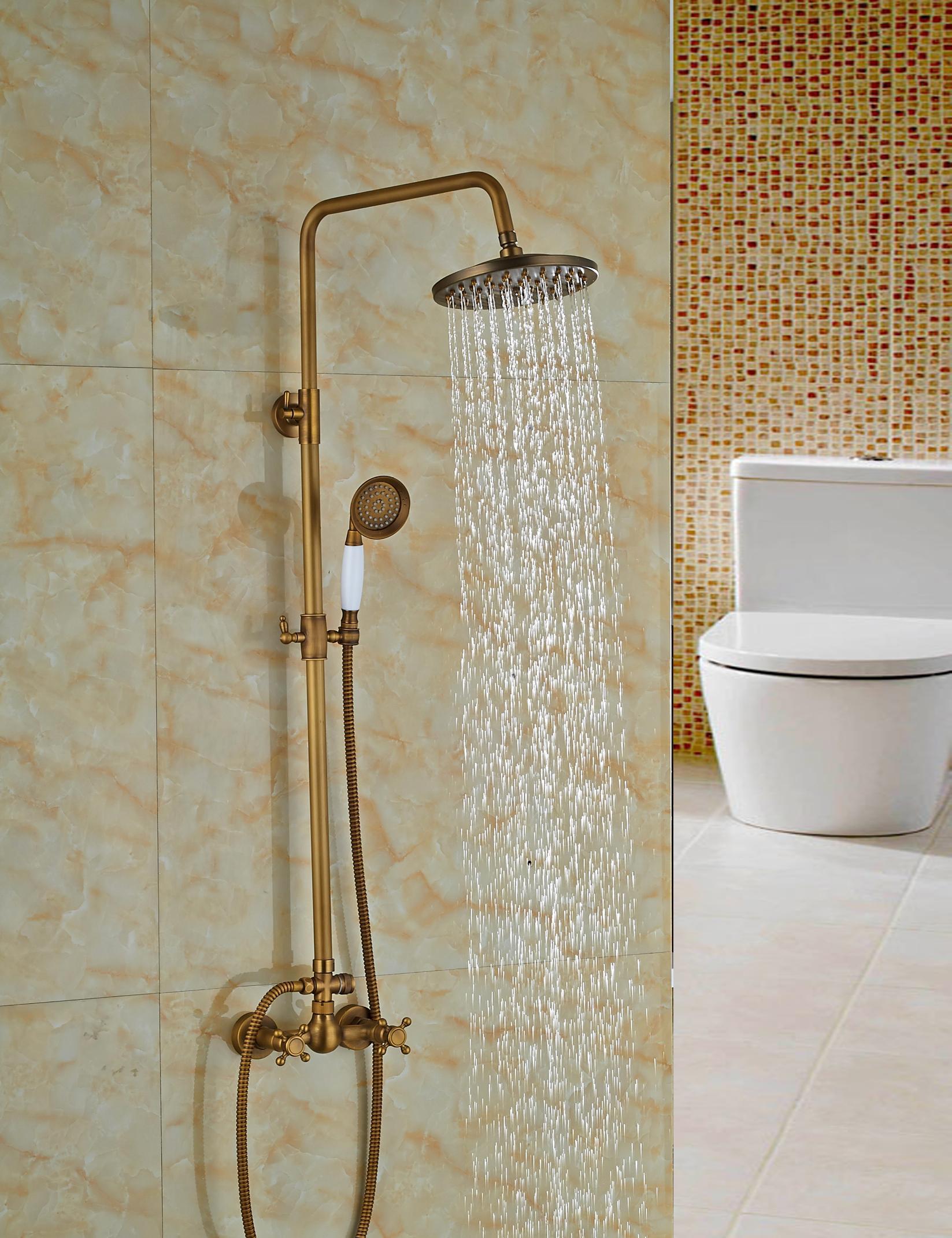 Rain Shower Head Valve Accessories For Antique Copper Shower Column Mixer Faucet