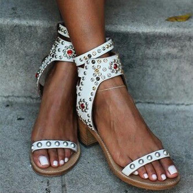 2016 뜨거운 브랜드 초조 발목 버클 T- 벨트 검투사 샌들 발가락 발 플랫 샌들 가죽 샌들 여름 신발 여성