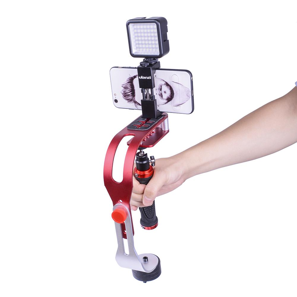 Freeshipping DSLR handheld Camera stabilizer mini video steadicam for iphone For GoPro action camera smartphone 1.5KG Weight bea