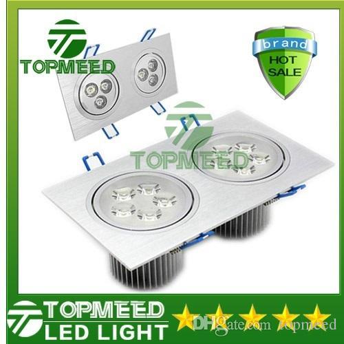 CE haute puissance double carré Led plafonnier 18W 30W 42W 110-240V LED spot encastré éclairage led spot encastrable 10 par DHL