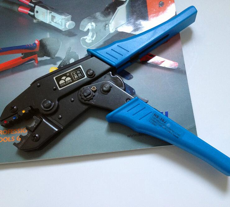 FRETE GRÁTIS HS-30J wire stripper EUROP STYLE catraca ferramenta de friso alicate 1-6.0mm2 ferramenta multi