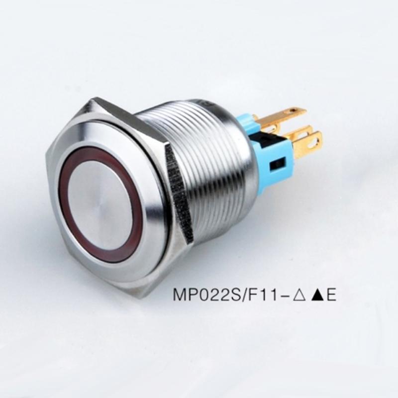 60pcs 22mm Latching ON OFF Кнопочный Водонепроницаемый IP67 водить 12V 24V с подсветкой металла антивандальный Однократно переключатель