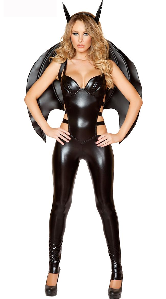 High Quality Sexy PVC Bat Girl Costume Women Black PU Leather Bat Halloween Costume Carnival ...  sc 1 st  DHgate.com & High Quality Sexy Pvc Bat Girl Costume Women Black Pu Leather Bat ...