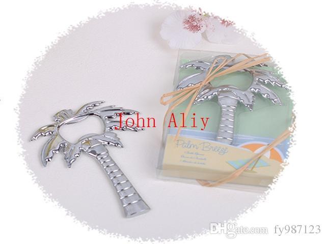 """Venta caliente """"Palm Breeze"""" abrebotellas de la palmera 200PCS / LOTE boda nupcial favor de la ducha de regalo para invitados decoración de la boda"""