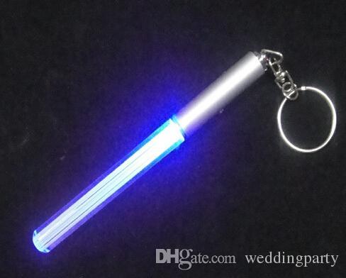 Mini LED Lightsaber Keychain Flashlight