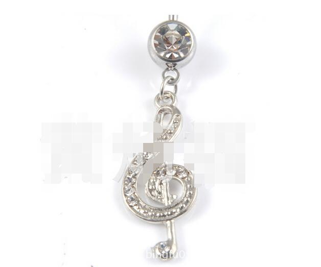 2018 Belly Dance Music Symbol Jewelry Navel Ring Milk Ring Lip Nail