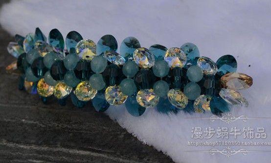 diamante azul profundo tring lady hairpin ((10 * 3cm) (ma52)