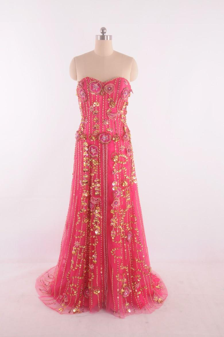 2015 Water Monlen Gold Prom Dresses with Beading Sequins Pageant Dress Vestidos de Festa A Line Sweep Train Sexy Backless Dress Party Dress