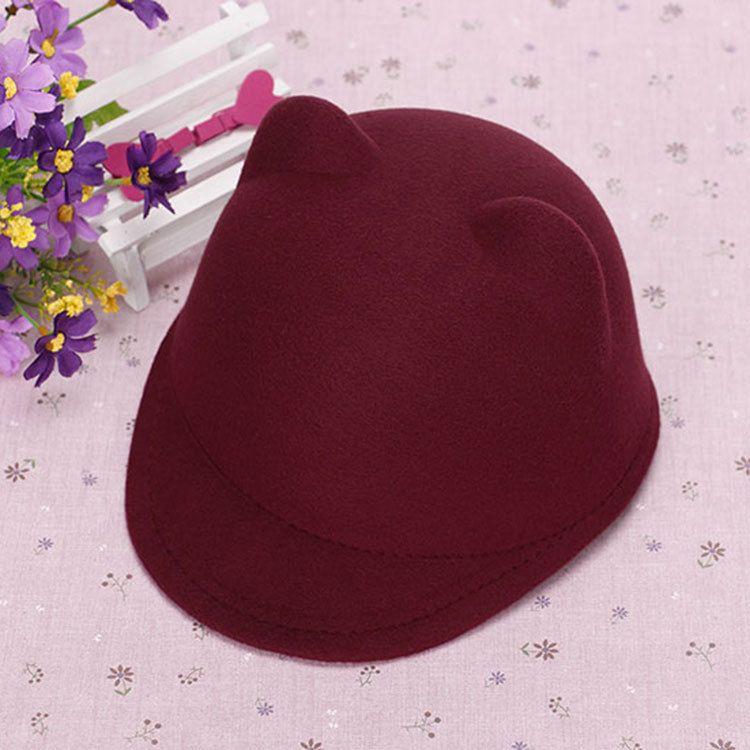 Wholesale-Parent-child cap 2015 new 54cm 57cm children's family cap hat wool cute car ears hat winter fedora for women