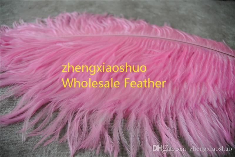 wholesale 100pcs/lot 14-16inch 35-40cm light Pink Ostrich Feather Plumes for Wedding centerpiece christmas event feather decor