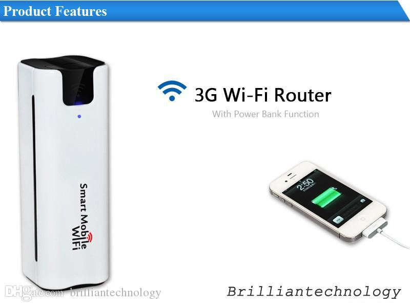 Smart Moblie WIFI 3G WiFi Router Mobile Pocket Portable Wielofunkcyjny Mini Wireless Power Bank Sim Card Slot 3G WiFi Router