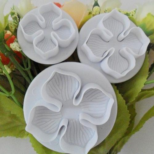 Herramientas de cocina de Navidad 3 Unids / set Nueva Hortensia Fondant Sugarcraft Craft Mold Tool Cake Cake Decorar Para Hornear Herramientas