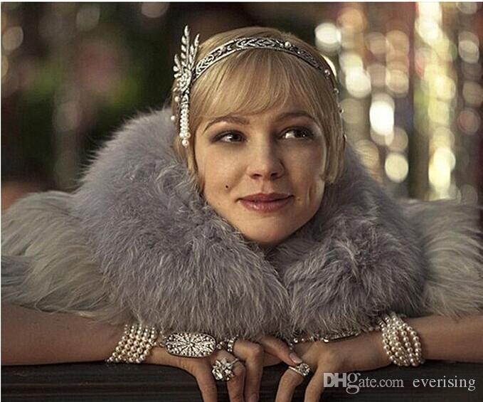 Barok Tiara Headpieces Parti Taçlar Düğün Gelin Takı Sparkly Kristal Saç Aksesuarları Pageant Kafa Bağbozumu Klasik Inci Moda