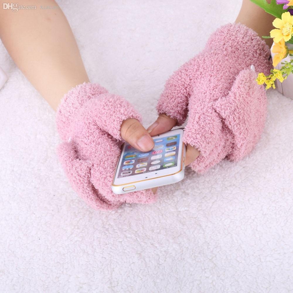 الجملة-الشتاء الخريف للجنسين المعصم أصابع قفاز المرأة نصف اصبع قفازات القفاز الوجه