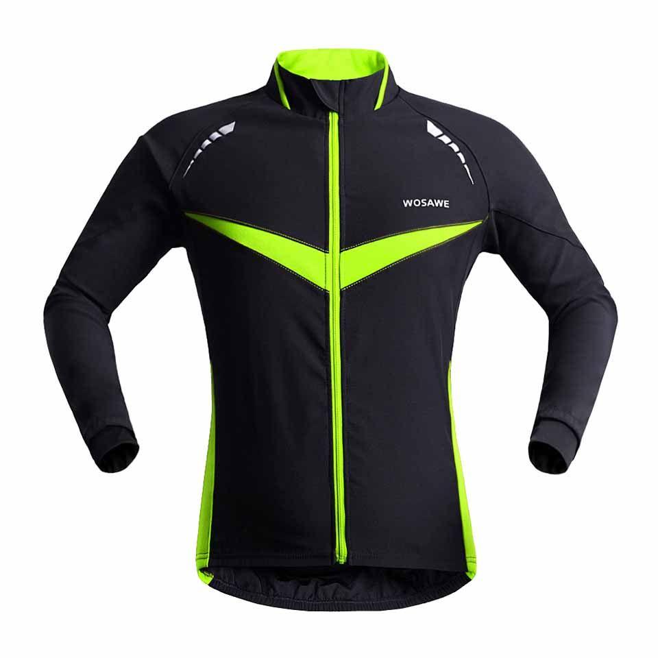 Wholesale-2015 جديد المهنية الحرارية الدراجات سترة الشتاء الجري الرياضة سترة الرجال النساء جودة عالية wosawe 2 ألوان BC266