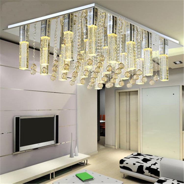 Great ... Fashion LED K9 Crystal Bubble Column Ceiling Lamp Living Room Ceiling  Lights Dining Room Ceiling Lights ...