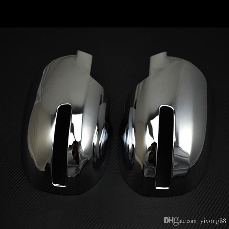 HZYEYO Car Accessories Fit For MITSUBISHI for Outlander Door Side Mirror Chrome Cover Rear View Cap, D7011