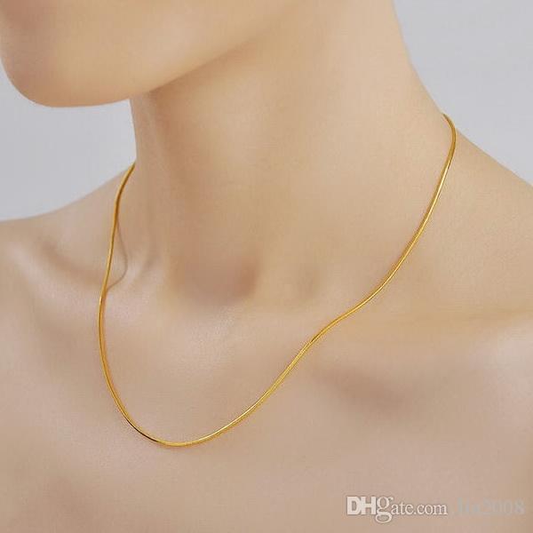 ثعبان سلسلة موجة هيكل عظمي قلادة الزفاف قلادة مطلية بالذهب، والذهب 24K شغل necklacefor 2014 النساء والمجوهرات