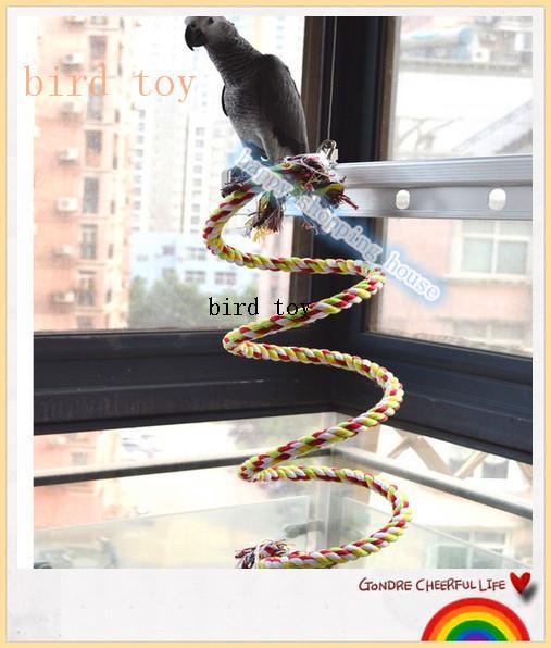 Ücretsiz kargo Büyük ve orta ölçekli Papağan Kuş Oyuncak tırmanma halat oyuncak Gri Papağan Amerika Papağanı Papağan Oyuncak