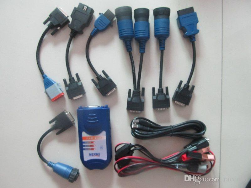 Truck Diagnosticar Scanner Nexiq Link USB 125032 Interface de diagnóstico pesado com cabos adaptadores Kit completo
