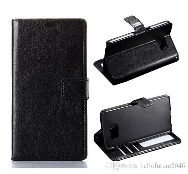 Para samsung galaxy s6 g920 a5 a7 a7 luxo retro do vintage carteira virar pu leather case capa com moldura de foto slots de cartão de crédito ficar titular