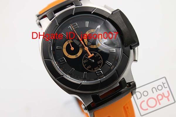 Горячие продажи Кварцевые Хронограф часы мужские T-Race Часы Portatil высокого качества часы оранжевой резинкой COUTURIER 1853