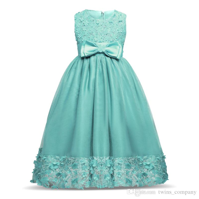 Großhandel Teenage Kid Mädchen Blütenblätter Kleid Kinder ...