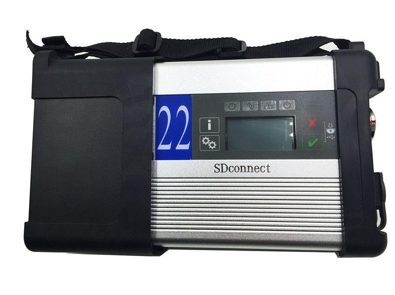 Melhor qualidade MB SD Connect Compact c5 MB estrela SD Star C5 ferramenta de diagnóstico multiplexador com função wi-fi sem HDD