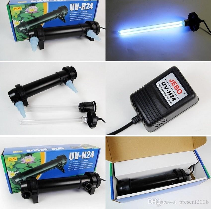 All'ingrosso-JEBO 5W ~ 36W Potenza sterilizzatore UV della luce della lampada a raggi ultravioletti pulitore del filtro chiarificatore dell'acqua per l'acqua dello stagno Coral Koi Fish Tank