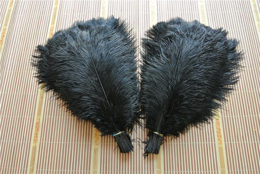 Atacado-FRETE GRÁTIS 50 pçs / lote 16-18 polegada (40-45 cm) Black Ostrich Penas para decoração de casamento peças centrais do partido do casamento