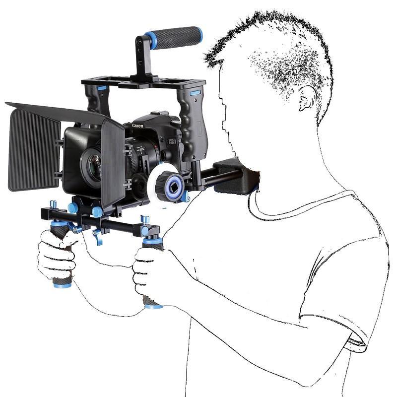 DSLR-4-in-1-Rig-Kit-Camera-Cage-Shoulder-Mount-Matte-Box-Follow-Focus-for-5D (2)