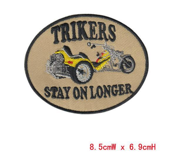 trikers car Garment badges special patch computer embroidery badge iron on cloth welcome custom free shipping