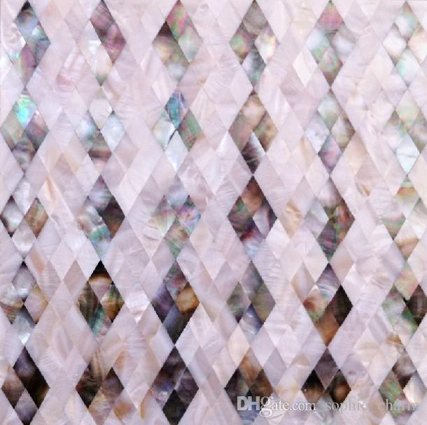8mm thickness Mother of pearl tile kitchen backsplash black shell mosaic wall tiles MOP058 mother of pearl tiles bathroom wall tile