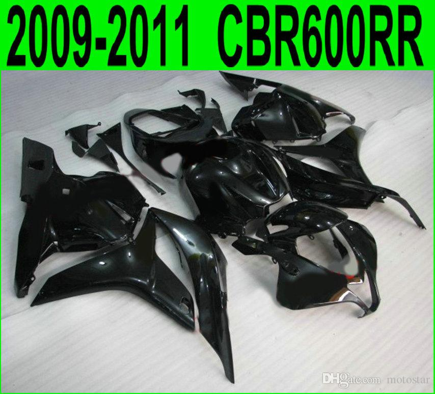 7 regali + carene ABS per stampaggio a iniezione Honda CBR600RR 2009-2011 kit carrozzeria nero lucido CBR 600 RR 09 10 11 YR12