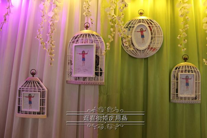 The wedding stage props background layout studio photography the wedding stage props background layout studio photography supplies window display decoration plastic cage frame junglespirit Images
