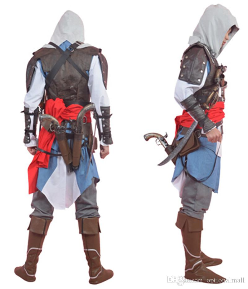 2015 Edward Kenway Costume Assassins Creed Iv 4 Black Flag Adult