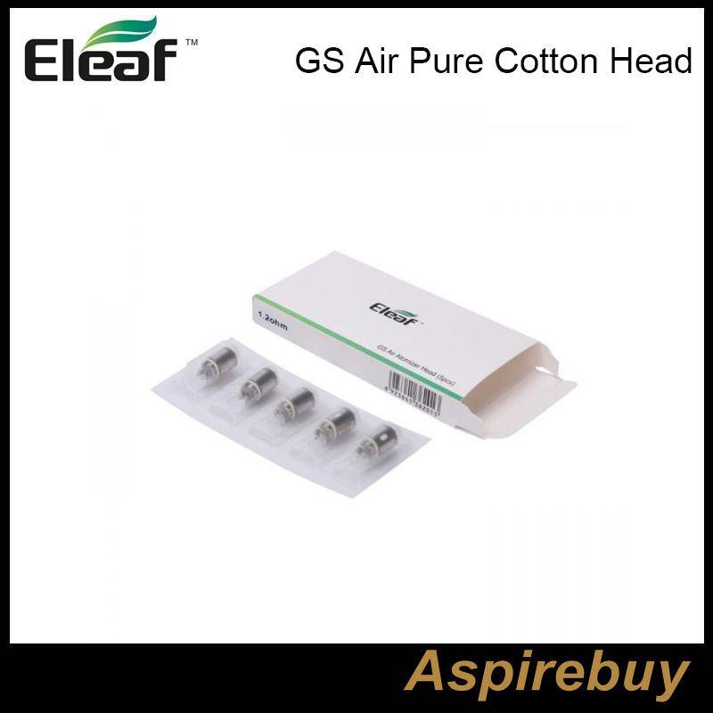 Eleaf iSmoka GS Air Puro cotone testa 1.2ohm 0.75ohm GSAir doppio bobine di ricambio testa bobina per GS Air Tank GS Air 2 atomizzatore 100% originale